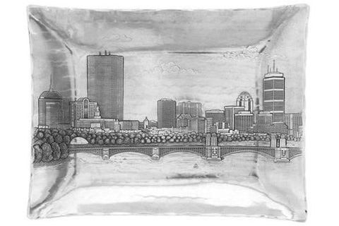 Boston Skyline Large Rectangular Tray