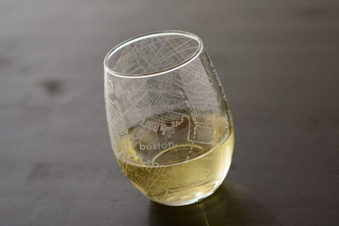 Boston Map Stemless Glass