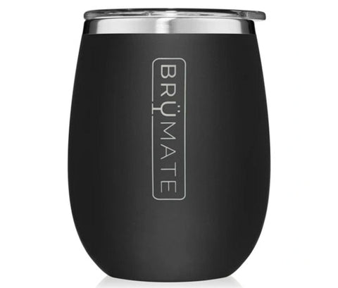 Brumate Uncork'd Wine Glass - Matte Black