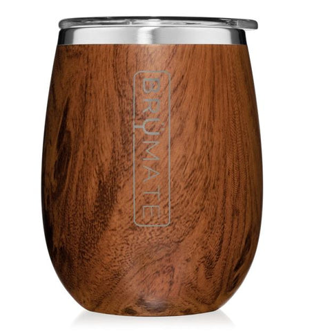 Brumate Uncork'd Wine Glass - Walnut