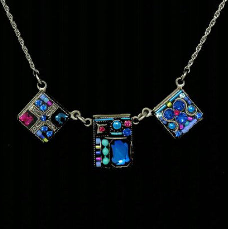 Firefly Geometric 3 Square Necklace