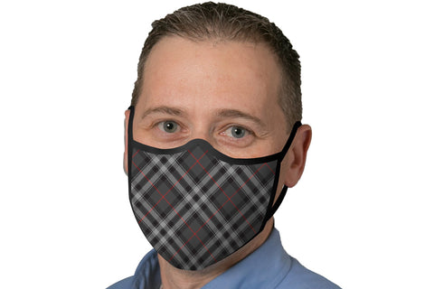 Face Mask - Grey Plaid