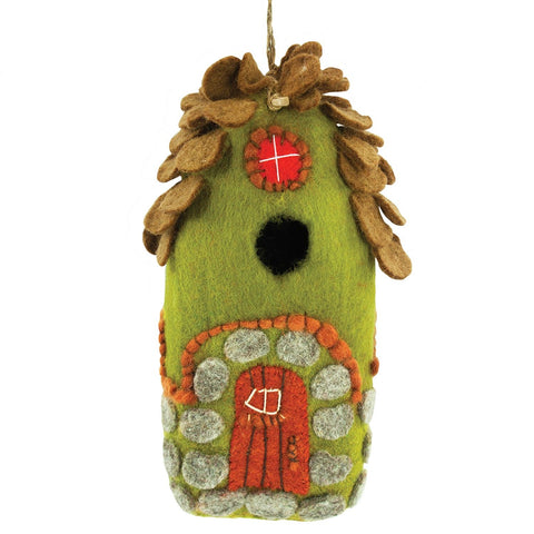 "Felted Outdoor ""Forest House"" Birdhouse"