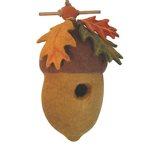 "Felted Outdoor ""Acorn"" Birdhouse"