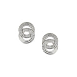 Marjorie Baer Interlocking Patterned Rings Earring