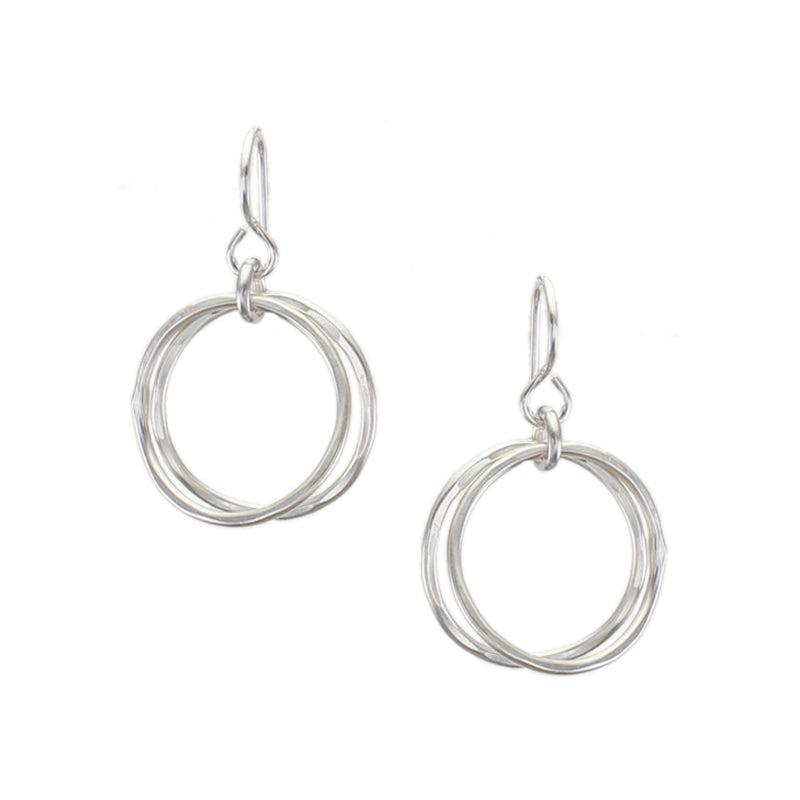Marjorie Baer Small Hammered Wire Hoops Earring