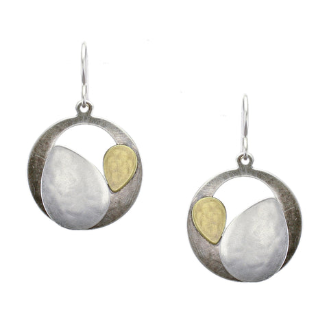 Marjorie Baer Cutout Disc and  Leaves Earring