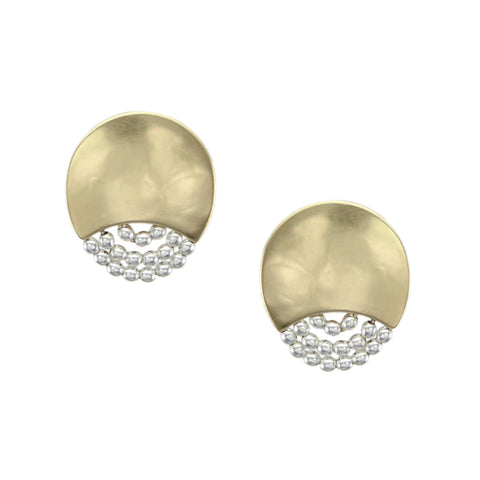 Marjorie Baer Crescent with Beads Earring