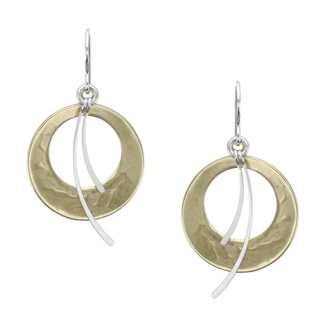 Marjorie Baer Cutout Discs with Swoops Earrings