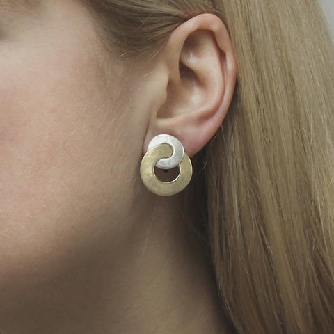 Marjorie Baer Entwined Circles Earrings