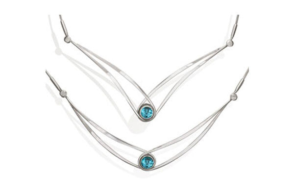 Ed Levin Gemstone Swing Necklace