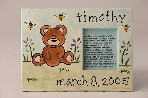 Personalized Ceramic Teddy Bear Frame