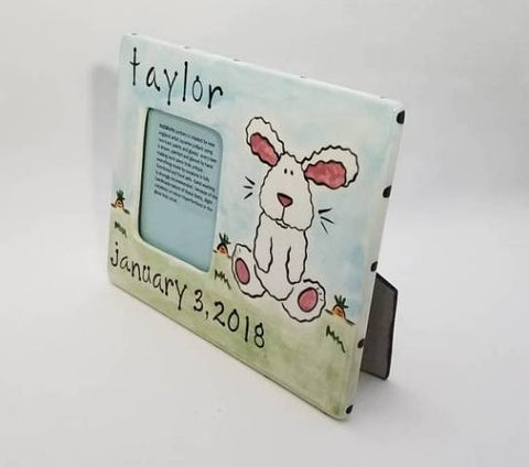 Personalized Ceramic Bunny Frame