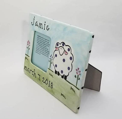 Personalized Ceramic Sheep Frame