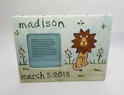 Personalized Ceramic Lion Frame