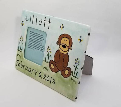 Personalized Ceramic Monkey Frame