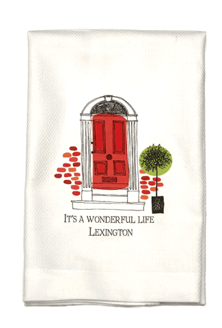 "Bar towel - ""It's a Wonderful Life - Lexington"""