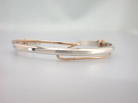 Sterling Cuff with Loose Gold Filled Wrap