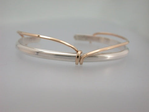 Sterling Cuff with Gold Filled Wrap