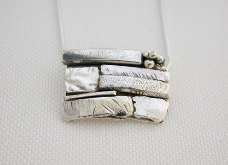 Sterling Silver Stone Wall Inspired Pendant