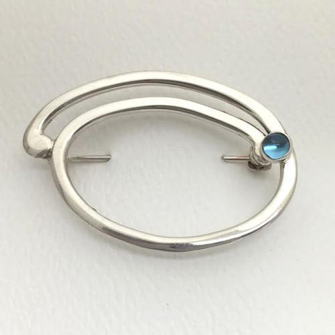 Sterling Oval Pin