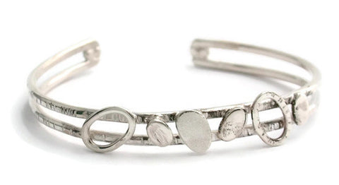 Sterling Silver Pebble Collection Cuff