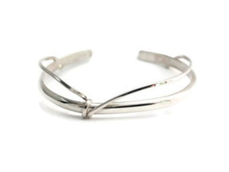 Sterling Silver Simple Wrap Cuff