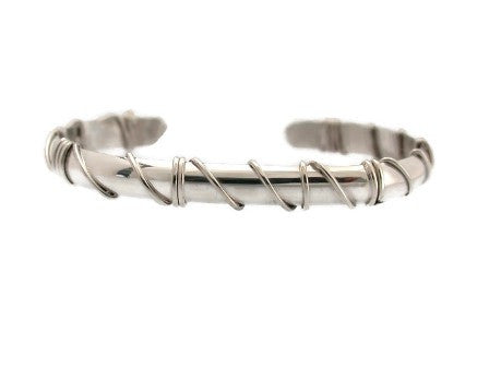 Sterling Silver Cuff with Wrap