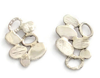 Sterling Silver Pebble Collection Earrings
