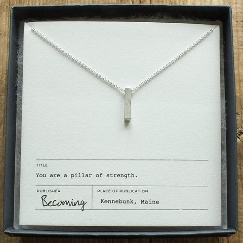 Pillar of Strength Charm Necklace