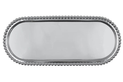 Pearled Long Oval Tray