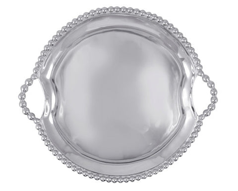 Mariposa Pearled Round Tray