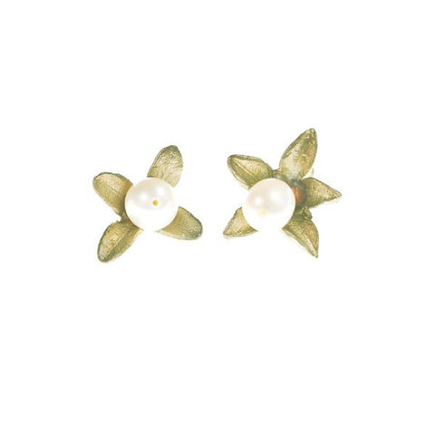 Michael Michaud Boxwood Post Earrings