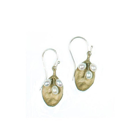 Michael Michaud Boxwood Leaf Earrings