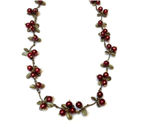 Michael Michaud Cranberry Necklace