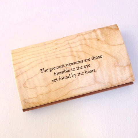 Engraved Quote Box - Greatest Treasure