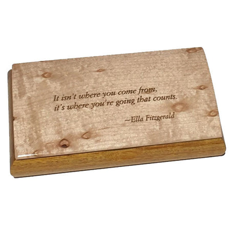 Possibilities Engraved Quote Box - Ella Fitzgerald