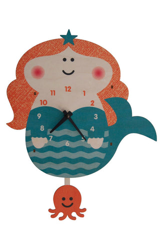 Pendulum Mermaid Clock