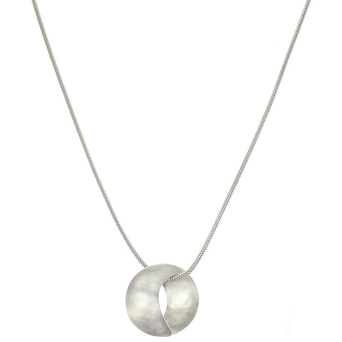 Marjorie Baer Convex and Concave Crescent Necklace