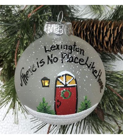 "Handpainted ""No Place Like Home"" Ornament"