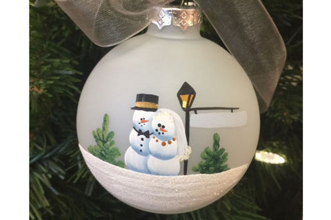 Handpainted Newlyweds Ornament