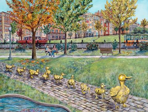 Ducklings in the Fall