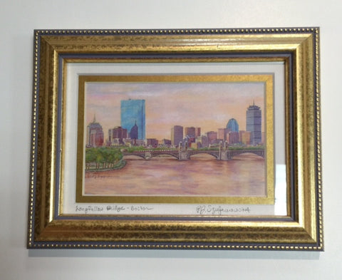 Framed Longfellow Bridge