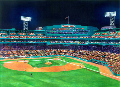 Print Fenway Night View