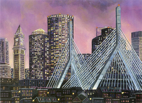 Print Boston Zakim Bridge