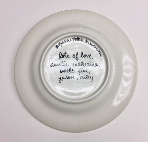 Personalized Ceramic Lion Plate