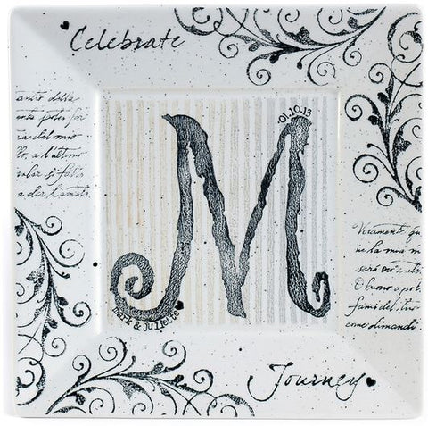 Museware Celebration Monogram Plate