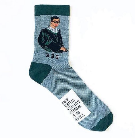 Maggie Stern RBG Striped Portrait Socks