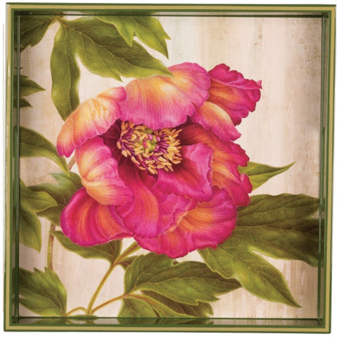 Square Art Tray - Pink Peony