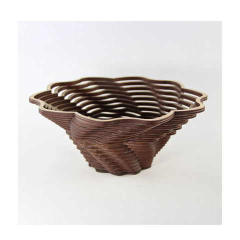 Laser Cut Wooden Bowl - Blossom